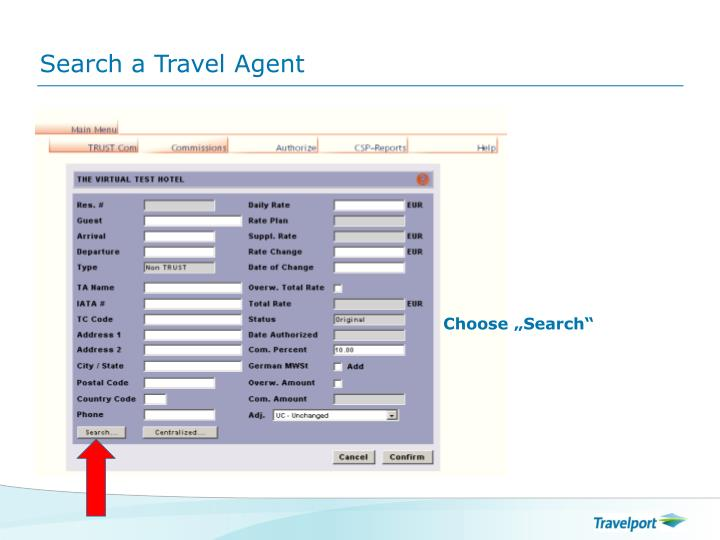 Search a Travel Agent