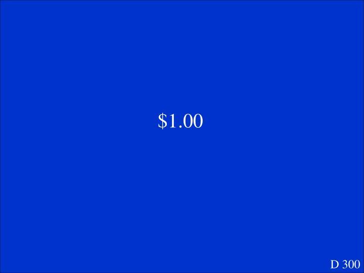 $1.00