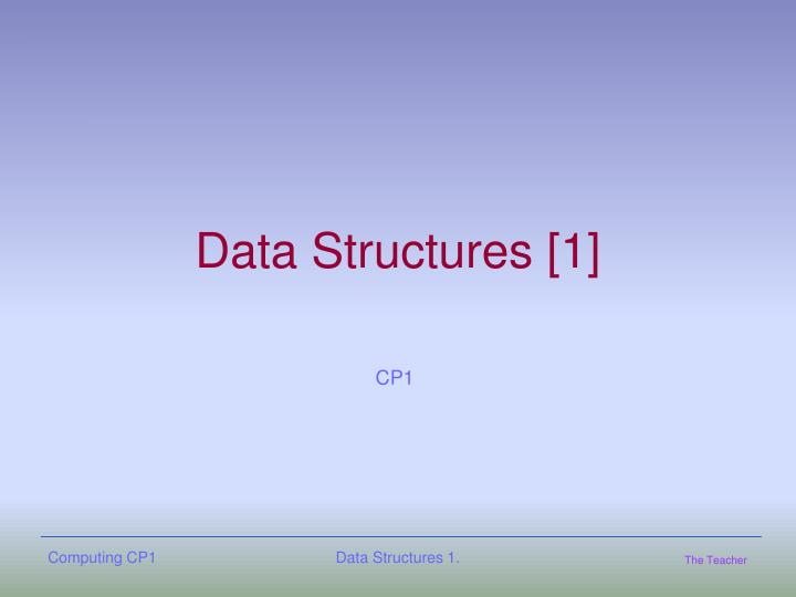 Data structures 1