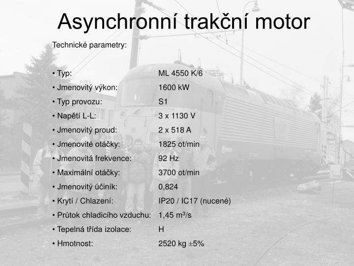 Asynchronní trakční motor