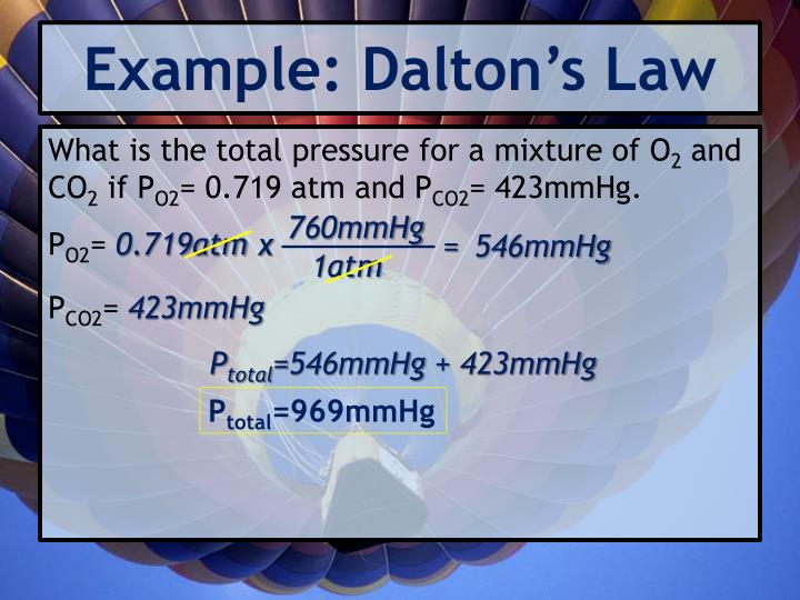 Example: Dalton's Law