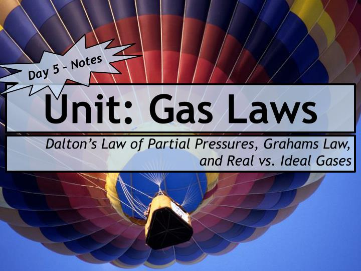 Unit gas laws
