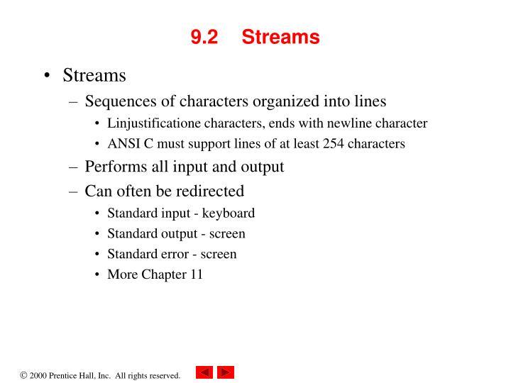 9.2Streams