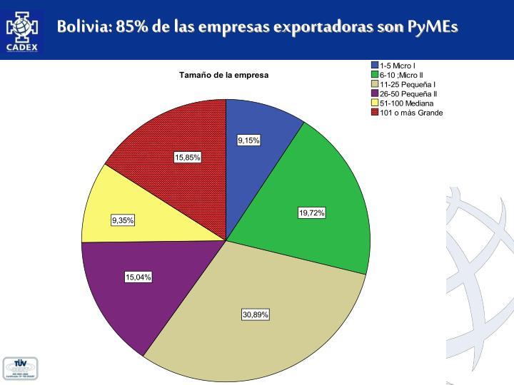 Bolivia: 85% de las empresas exportadoras son