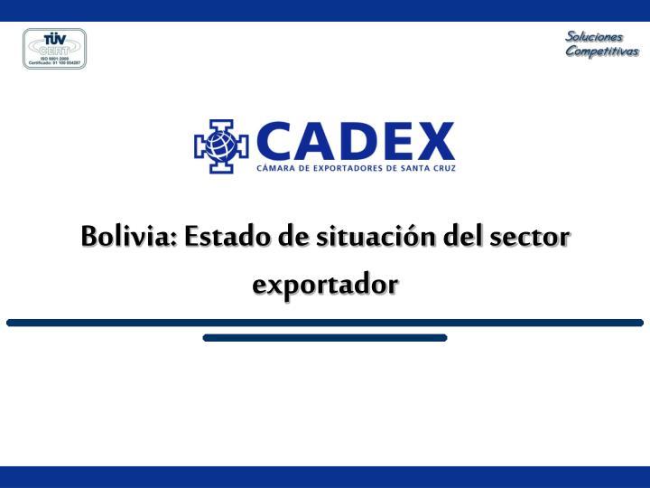 Bolivia: Estado de situación del sector exportador
