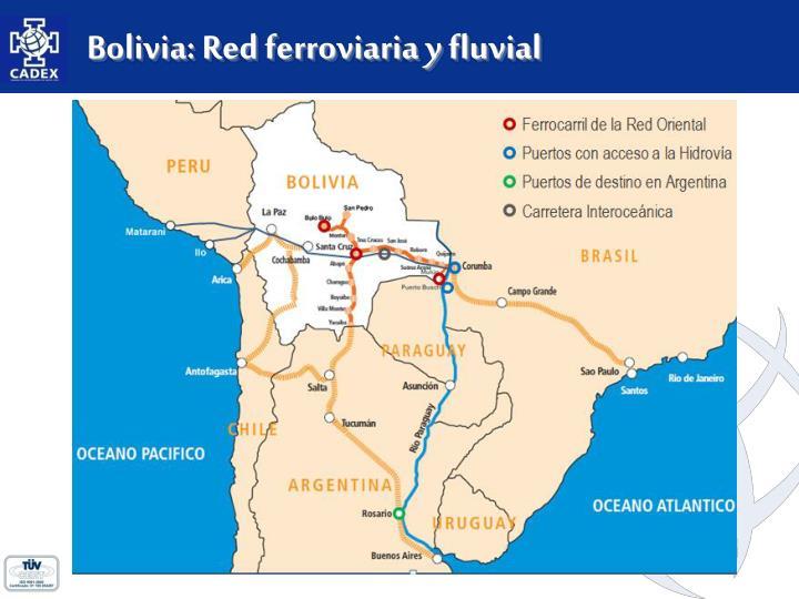 Bolivia: Red ferroviaria y fluvial