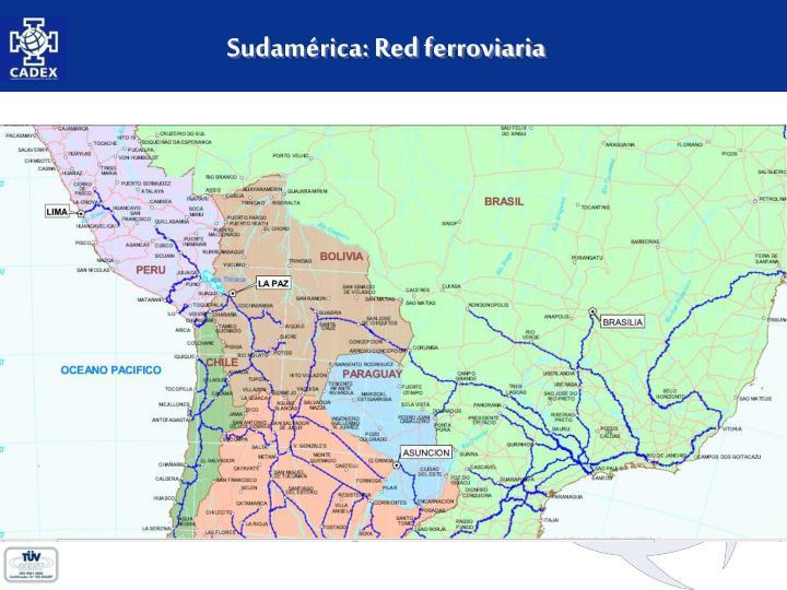 Sudamérica: Red ferroviaria