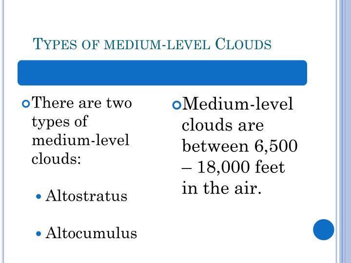 Types of medium-level Clouds