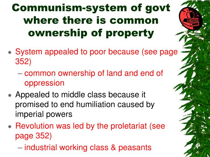 Communism-system of