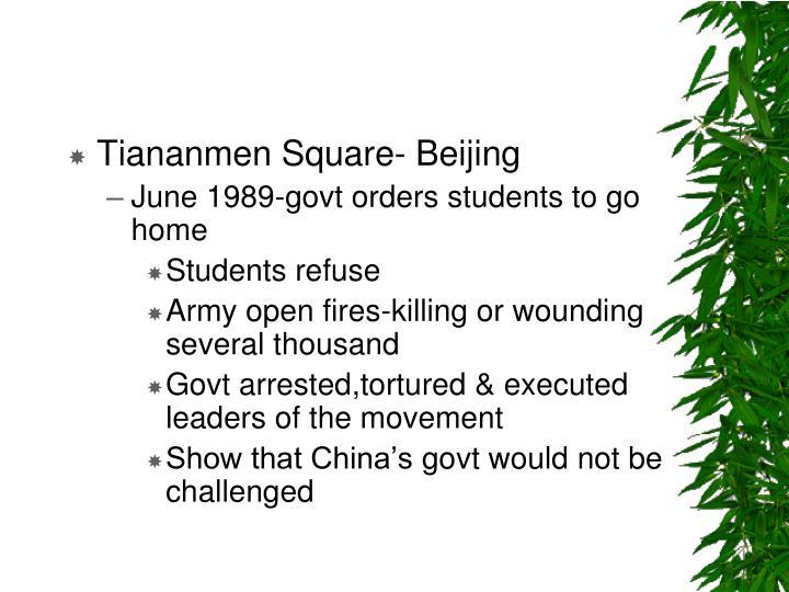 Tiananmen Square- Beijing