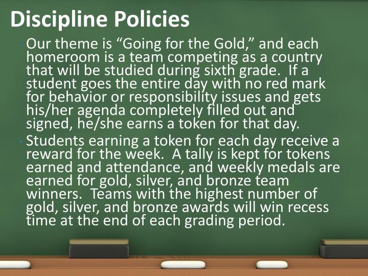 Discipline Policies