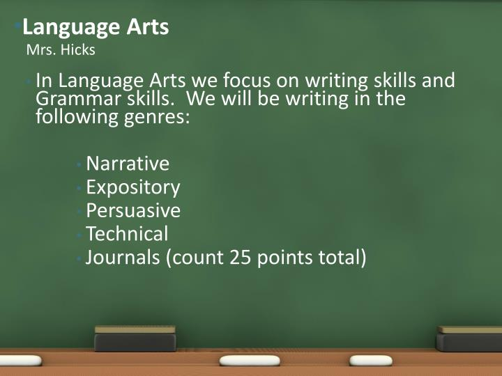 Language Arts