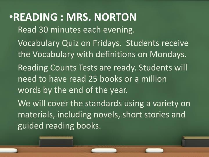 Read 30 minutes each evening.