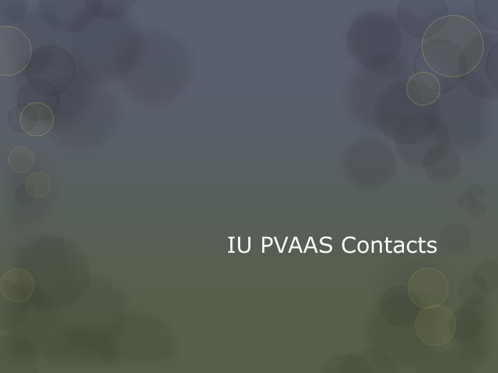 IU PVAAS Contacts
