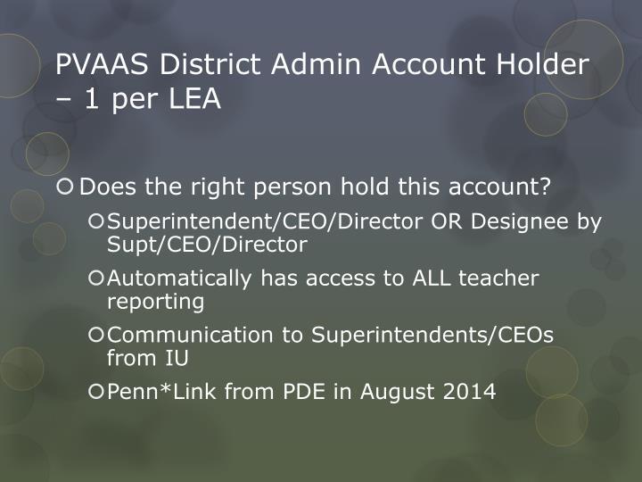 PVAAS District Admin