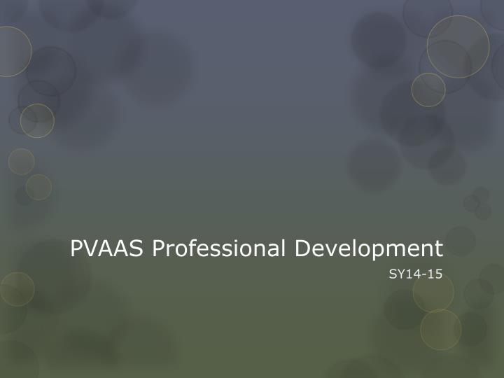 PVAAS Professional Development