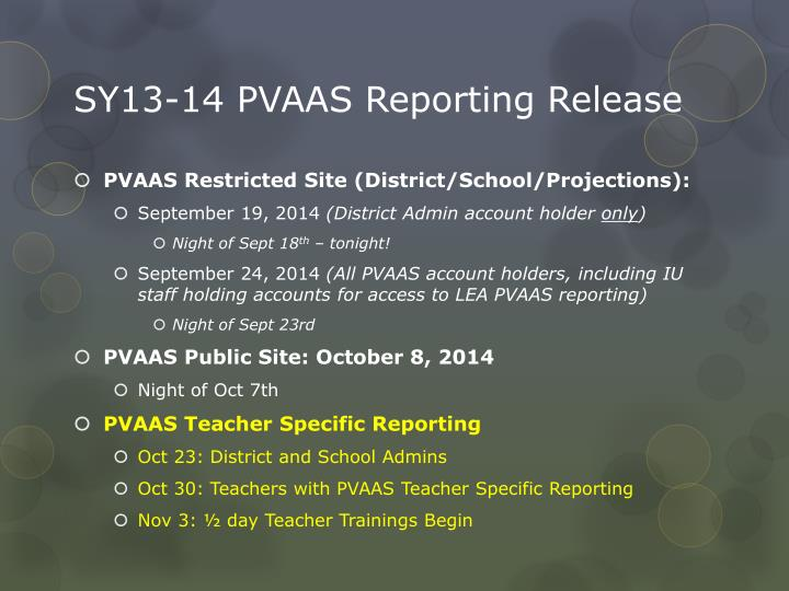 Sy13 14 pvaas reporting release