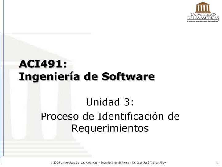 Aci491 ingenier a de software