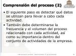 comprensi n del proceso 2