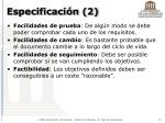 especificaci n 2