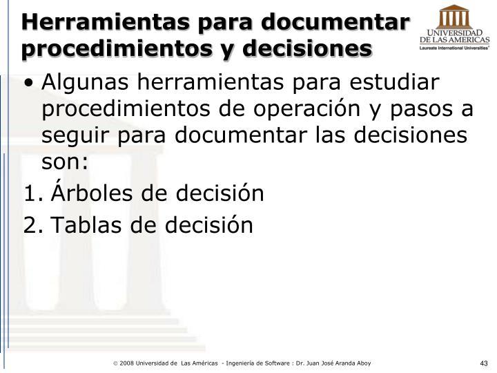 Herramientas para documentar procedimientos y decisiones