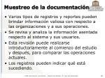muestreo de la documentaci n