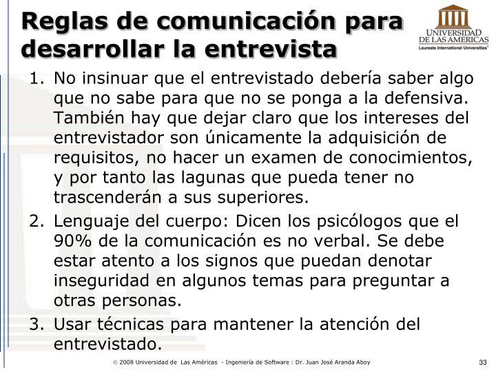 Reglas de comunicación para