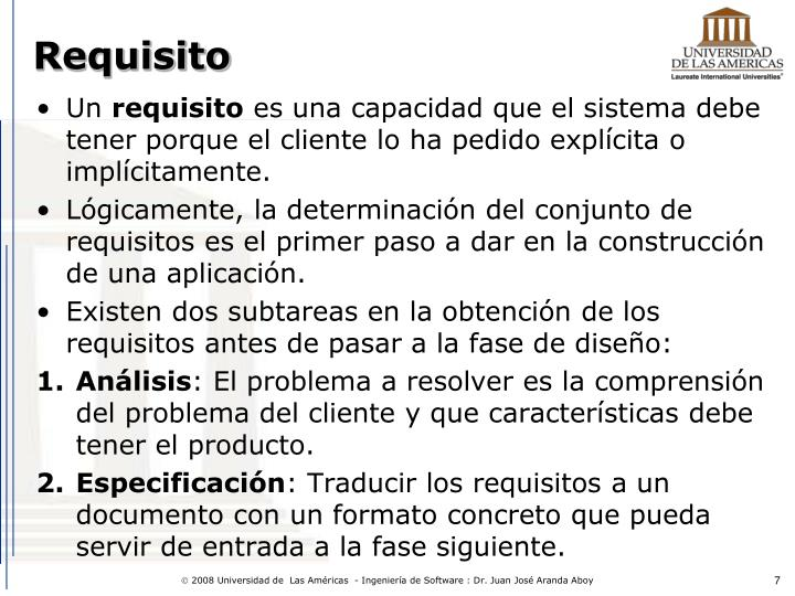 Requisito