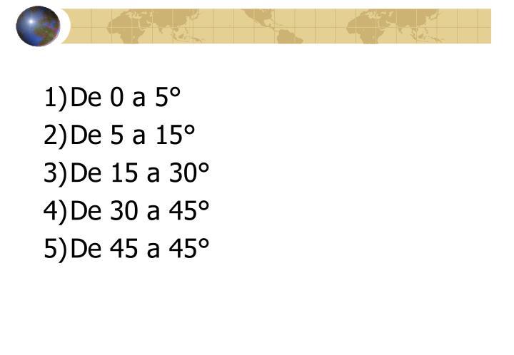 De 0 a 5°