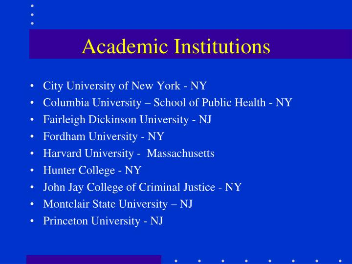 Academic Institutions