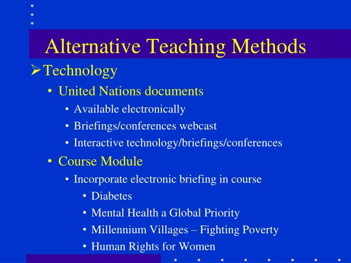 Alternative Teaching Methods