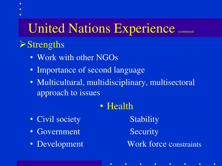 United Nations Experience