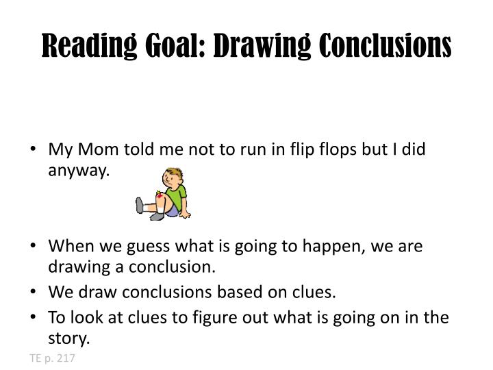 Reading Goal: Drawing Conclusions