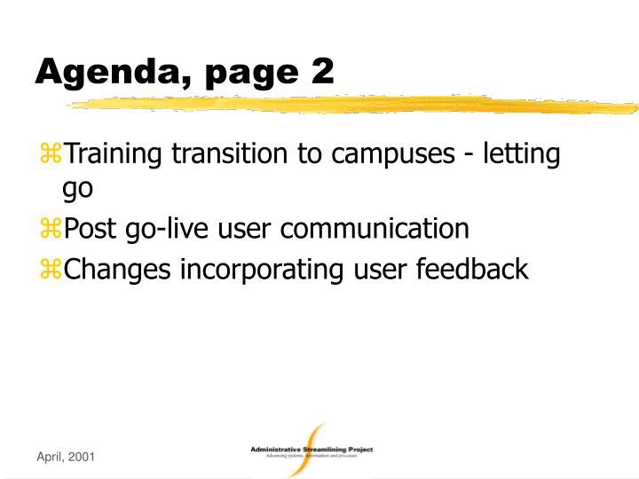 Agenda, page 2
