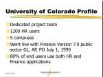 university of colorado profile