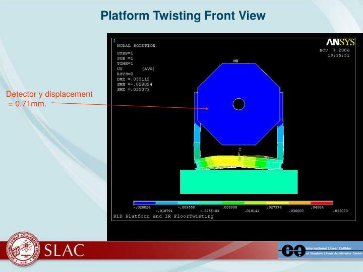 Platform Twisting Front View