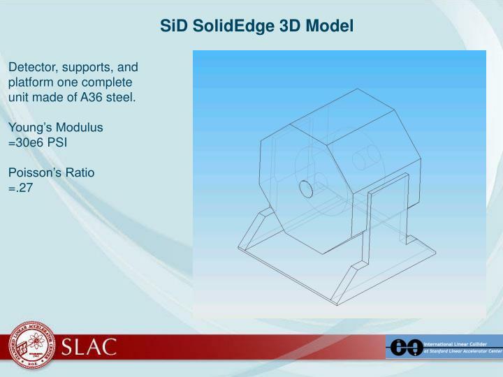 SiD SolidEdge 3D Model