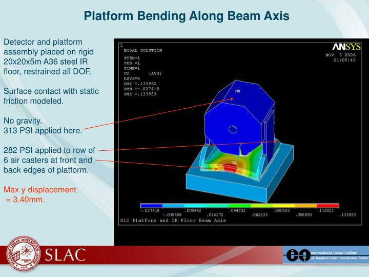 Platform Bending Along Beam Axis