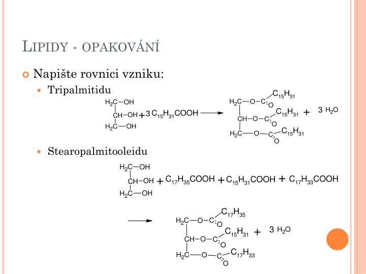 Lipidy - opakování