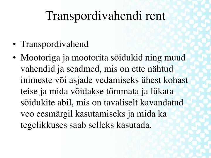 Transpordivahend