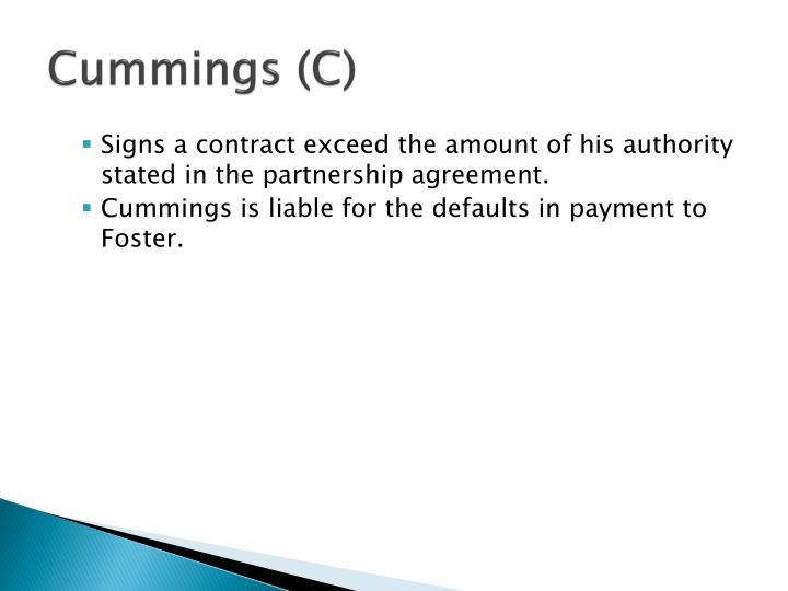 Cummings (C)