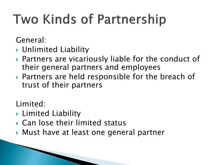 Two Kinds of Partnership