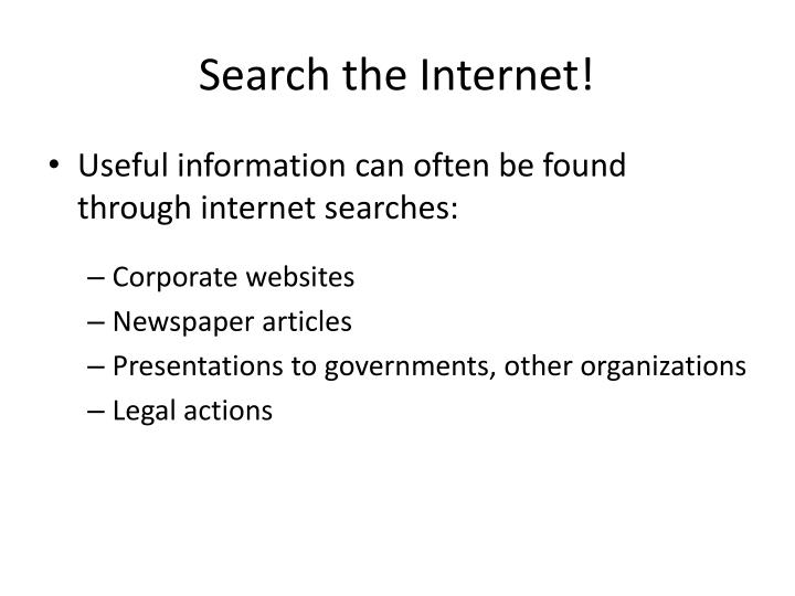 Search the Internet!