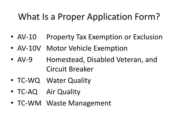What Is a Proper Application Form?