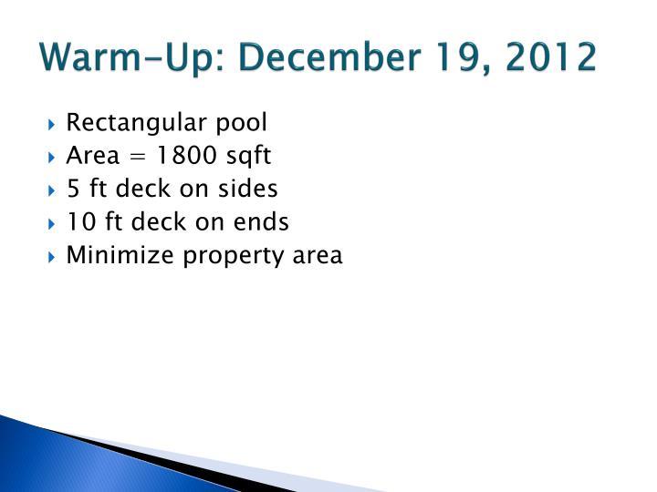 Warm-Up: December 19, 2012
