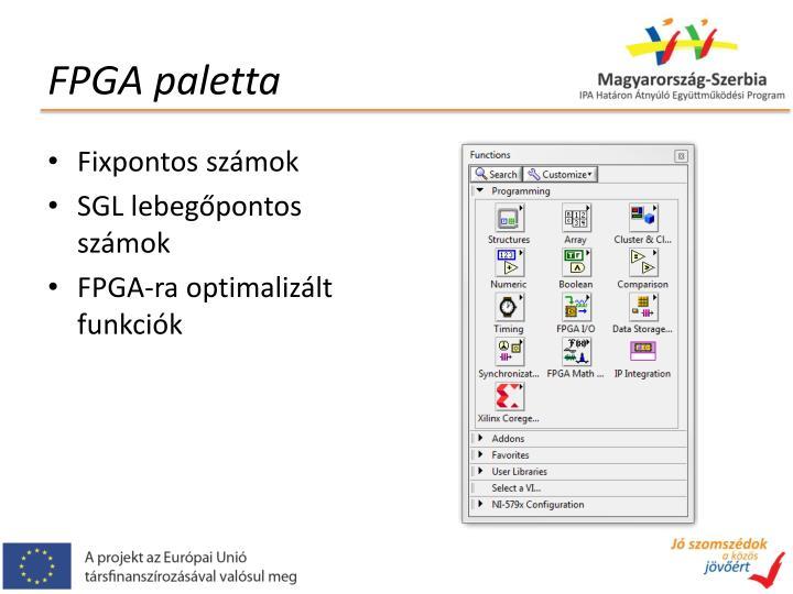 FPGA paletta