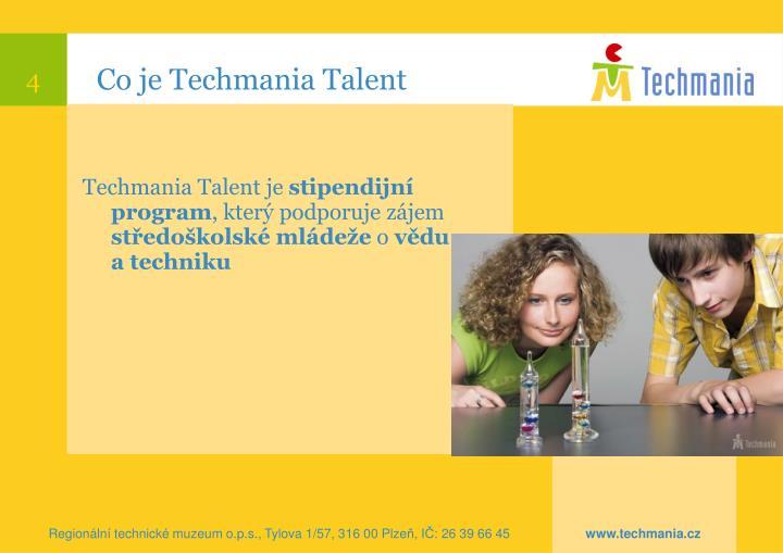 Co je Techmania Talent