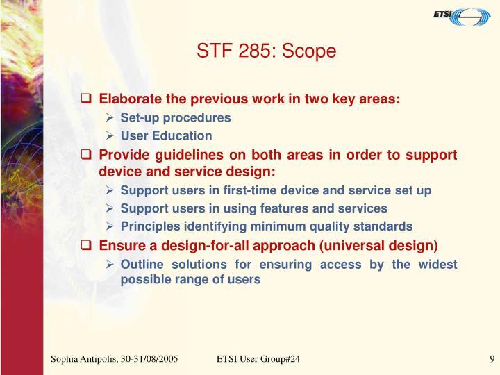 STF 285: Scope