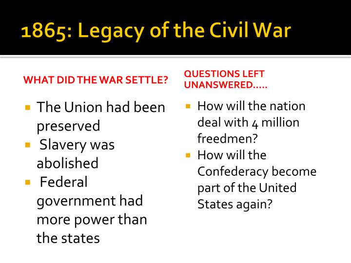 1865: Legacy of the Civil War