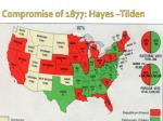 compromise of 1877 hayes tilden